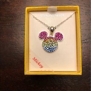 NWT Disney Mickey Mouse Crystal Necklace